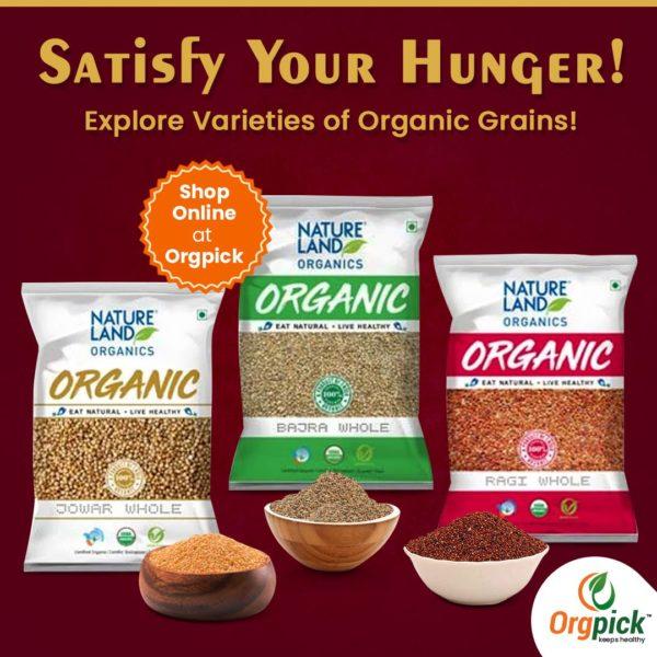 Buy Best Quality Organic Grains & Millet Online