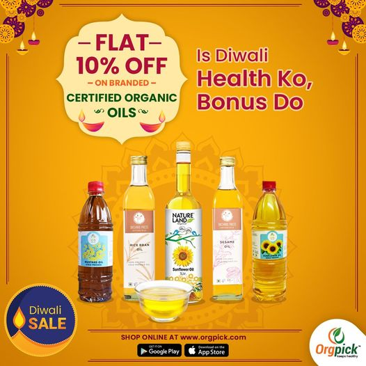 Grab 10% Off on Organic Oils in Pune