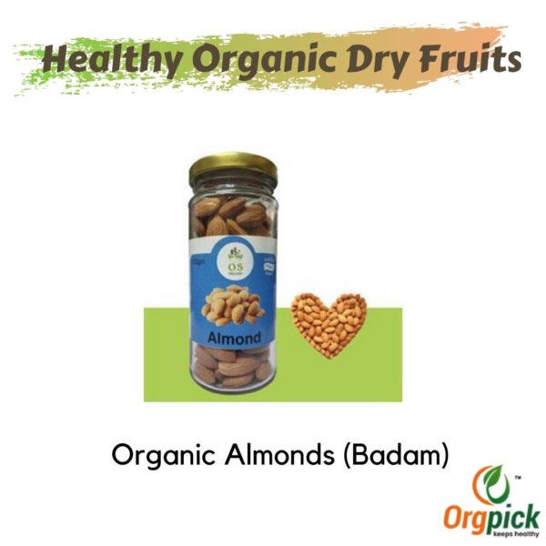 Buy Organic Almonds Bottle Online